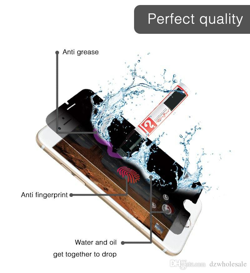 Display LCD 9H Privacy Anti-Spy Protective Film for iphone 5 5s 6 6S 7 Tempered Glass Screen Protector Anti Spy Pelicula De Vidro