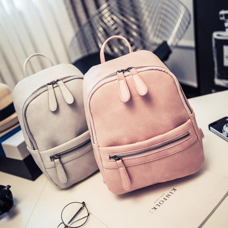 Wholesale Miyahouse Women Backpack New Fashion Casual PU Leather Ladies  Feminine Backpack Candy Color Korea Style Student Mini Backpack One Strap  Backpack ... b724e8901d