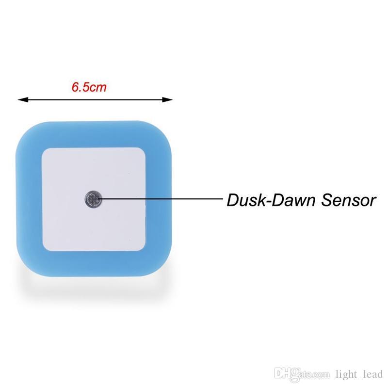 Creative Plug Socket Automatic Energy Saving Nightlight Light Sensor Control LED Wall Night Light Indoor Bedroom Decoration Lamp