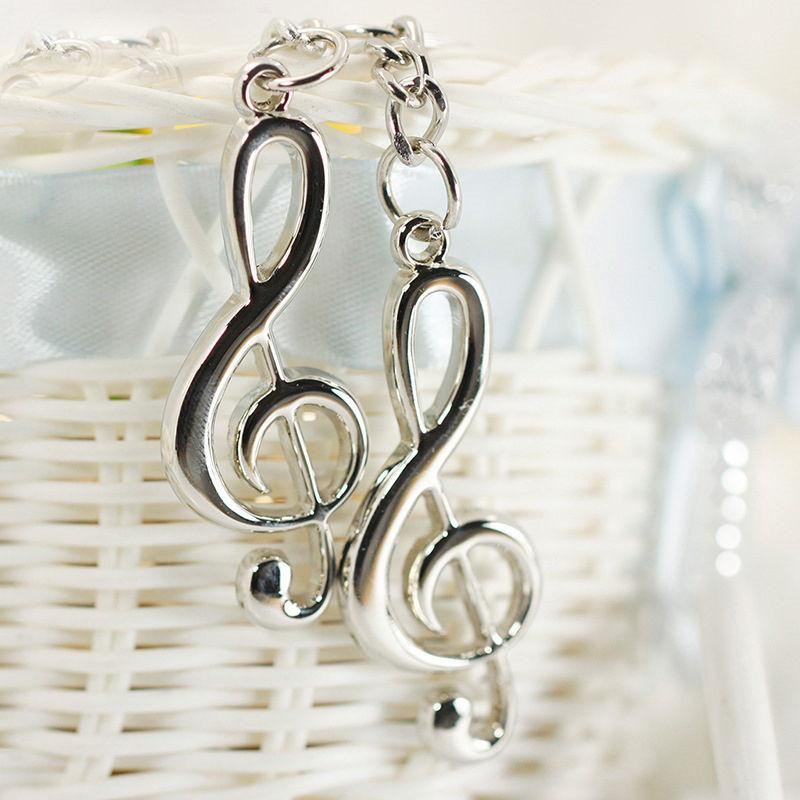LNRRABC Mode 1 Stück Unisex Frauen Männer Charming legierung Musical Note Symbol Schlüsselanhänger Schlüsselanhänger Mini Geschenk
