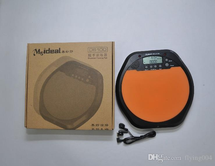Electronic dumb drums Pad Buil-in Metronome Beat Count Tap Tempo Drum Practice Pad Real-Drum Feeling Shelf Drum Trainer DS100