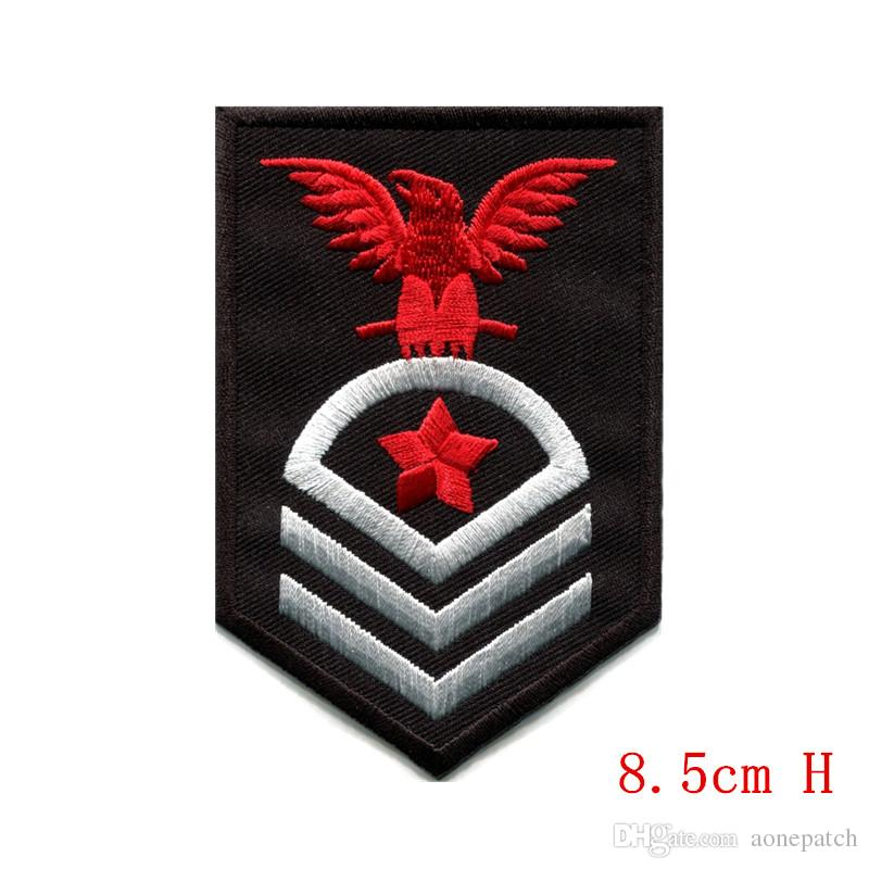 e8e12fed59f Different kinds army navy military insignia rank war applique iron-on patch  For Clothes Girls Boys Iron On Patches