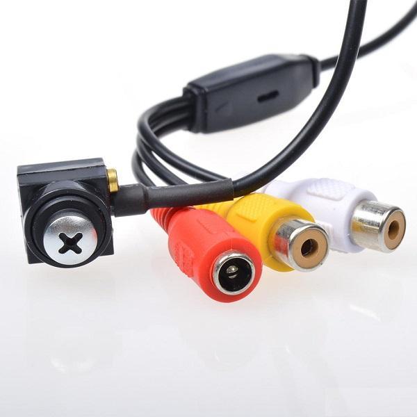 HD 700TVL 작은 구멍 사진기 소매 상자에있는 마이크 안전 감시를 가진 1/4