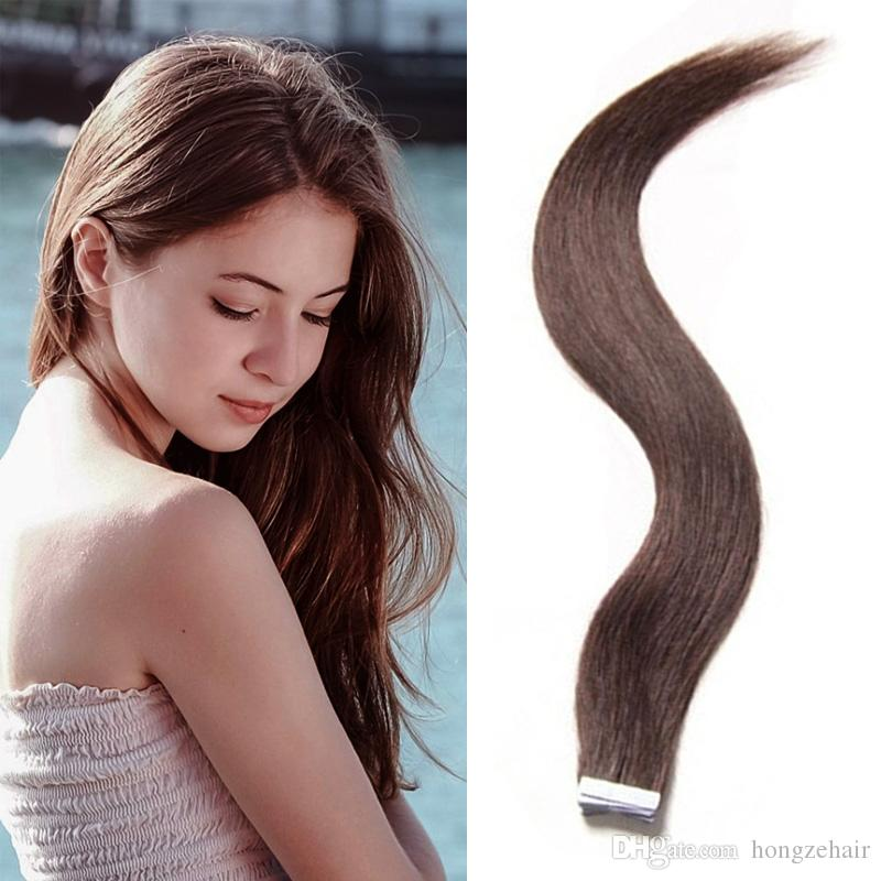 Tape In Hair Extensions 16 26inch Brazilian Virgin Human Hair