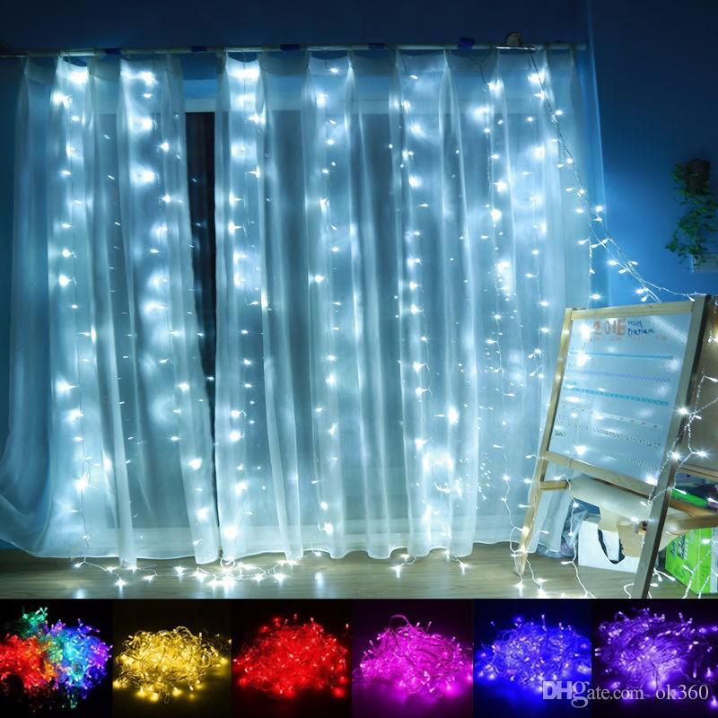 92454c935 10 3m LED Curtain Light Christmas Ornament Flash Colored Fairy Wedding Decoration  Lighting LED Strip String 1000 Lights Bulbs Waterproof Clear Globe String  ...