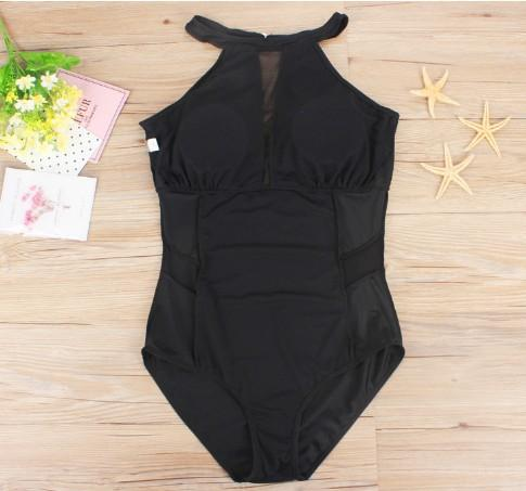 Sexy Plus Size Womens Swimsuits Mesh Push Up Backless One Piece Bathing Suits Swimming Suits Swimwear European style