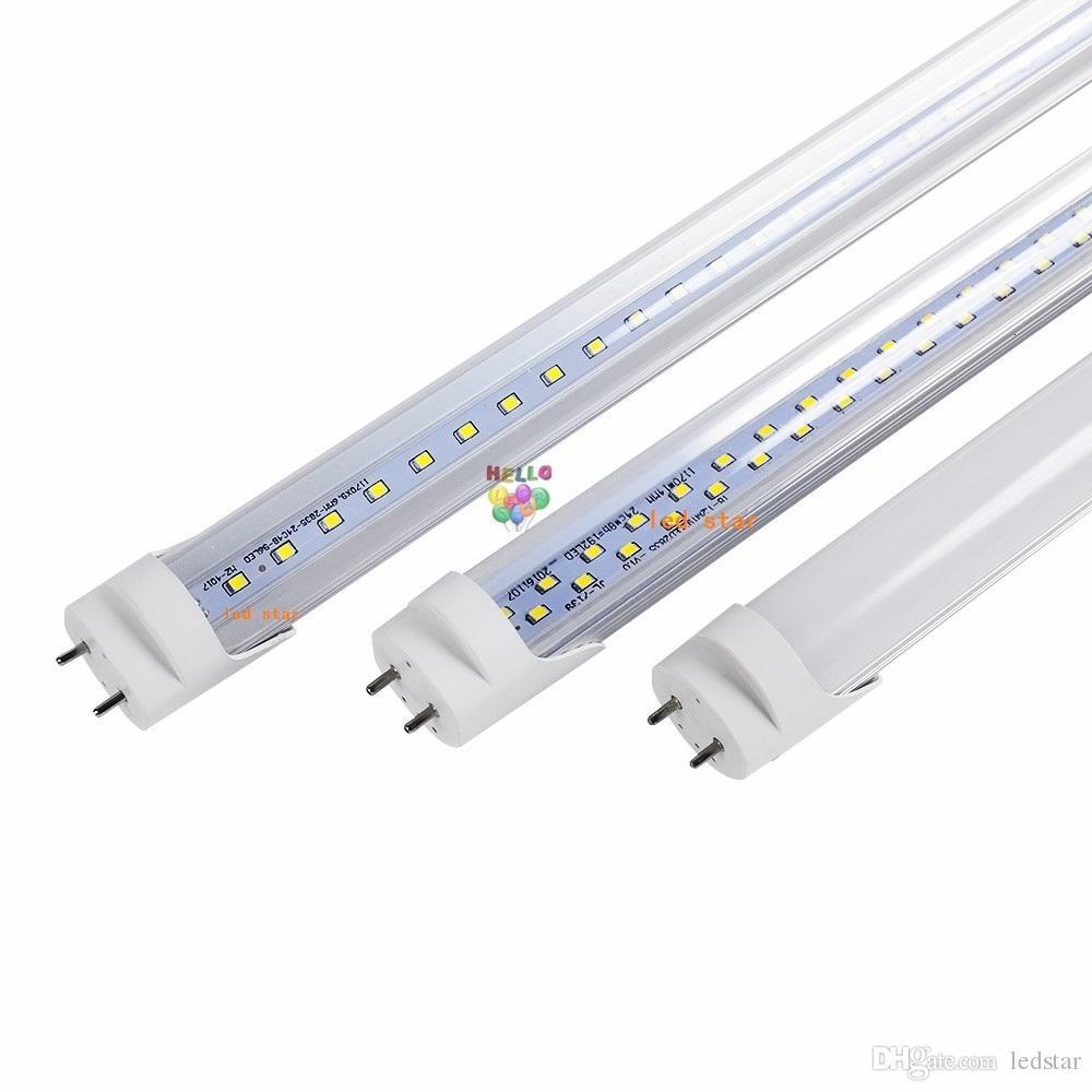 الأسهم في الولايات المتحدة + دبوس ثنائية 4FT أدى T8 أنابيب صفوف ضوء 18W 22W 28W T8 مزدوجة استبدال أنبوب العادي AC 110-240V FCC