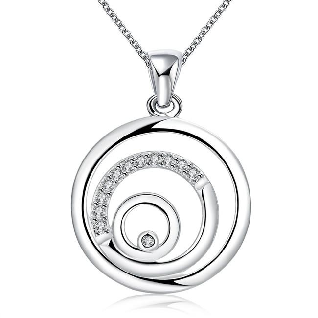 wedding Chain sterling silver plated jewelry necklace for women WN728,nice 925 silver Pendant Necklaces with chain