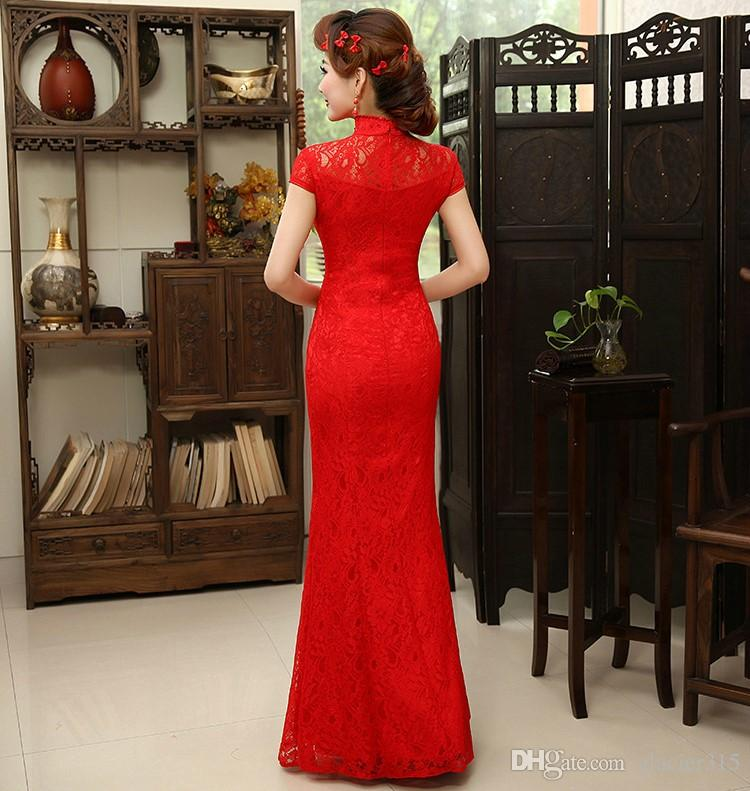 Shanghai Story Qipao Chinese Dress Long Mermaid Cheongsam Dress