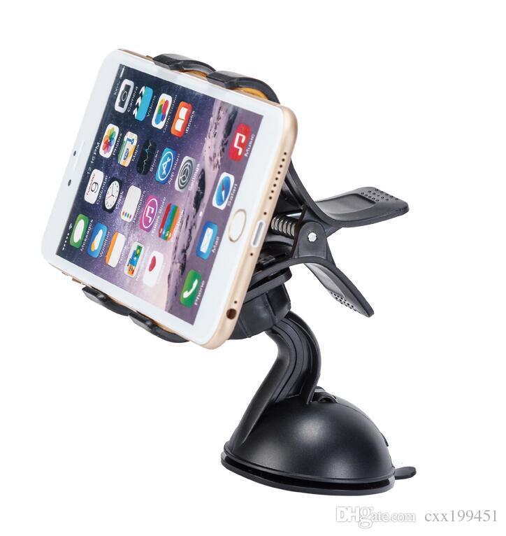 Support de bâti universel pour pare-brise de bâton de voiture pour téléphone portable GPS de téléphone portable avec la boîte de vente au détail