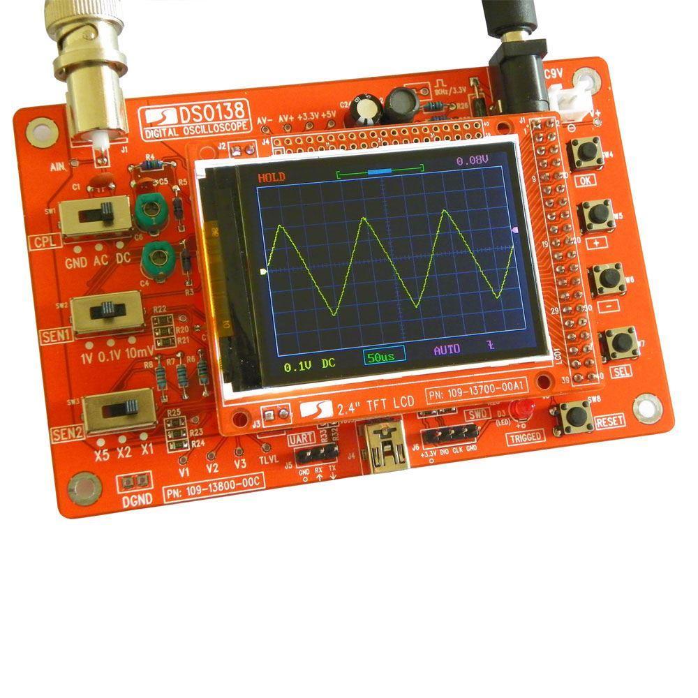 2.4 بوصة TFT المحمولة بحجم الجيب الرقمية راسم كيت أجزاء DIY لراسم SMD ملحوم مجموعة التعلم الإلكتروني