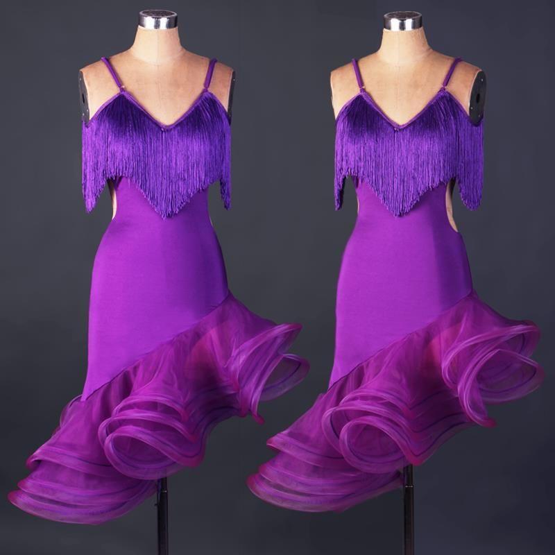 baile latino para mujer bianco vestidos concurso flecos salón de baile tango salsa tango traje de samba carnaval rumba vestidos de baile
