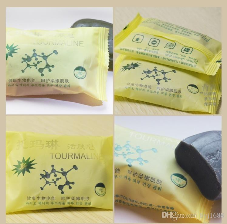 Tourmaline bamboo active energy Soap Charcoal active energy soap Concentrated sulfur soap For Face & Body Beauty HealthyCare