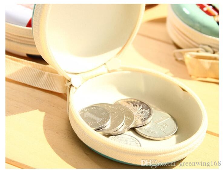 Unisex Women Mini Cute Round ZERO WALLET British style soldier Zipper Coin Purse Key Wallet Pouch Bag DHL free ship