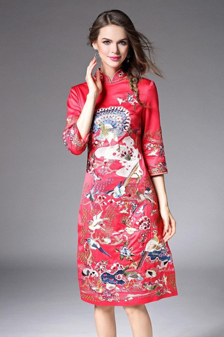 Compre Vestido De Novia De La Vendimia De La Manera Noble Cheongsa ...