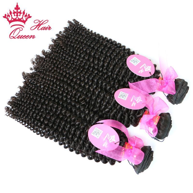 퀸 헤어 8-30inch 최고의 품질 공장 가격 자연 브라질 처녀 큐티 hair 머리 weaving / weft 곱슬 곱슬 곱슬 머리카락 인간의 머리카락