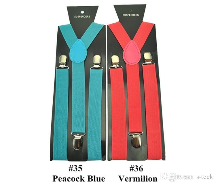 3 개의 스트랩 클립 2 개의 하네스 멜빵 2.5CM 가변 Y- 백 탄성 클립 온 유니섹스 바지 Suspender Brace