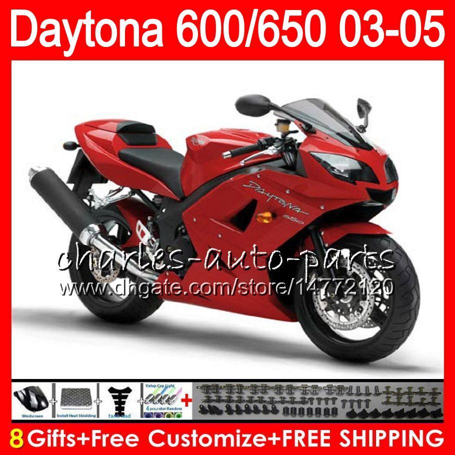 8 regalos es para Triumph Daytona 600 650 03 04 05 Daytona600 Stock rojo 3HM29 Daytona650 Daytona 650 600 2003 2004 2005 negro
