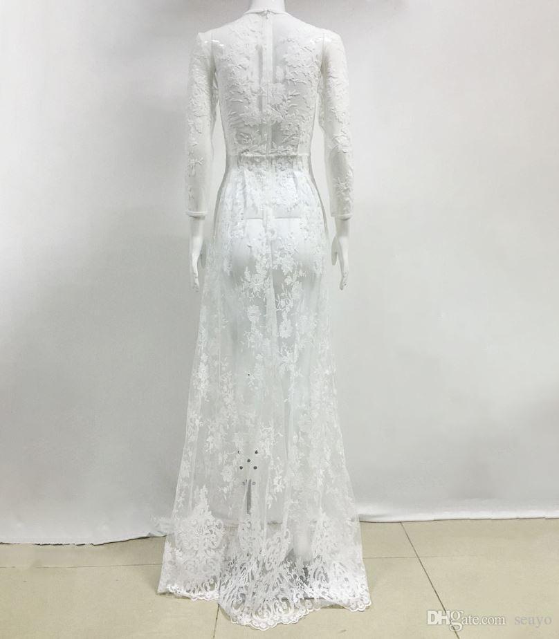 Explosión de comercio exterior de la estación europea de Eaby, vestido de novia de encaje con perspectiva de moda sexy, vestido de noche de boda de fiesta