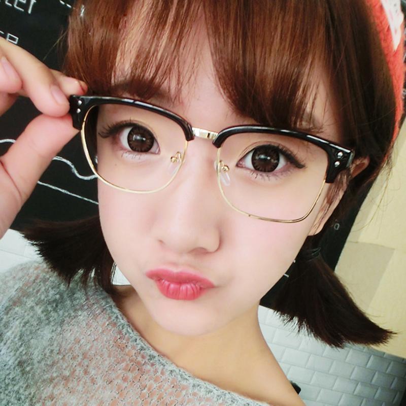 3ec5c202fd 2017 Luxury Vintage Women Sunglasses Black Half Frame Clear Lens Men Glasses  Fashion Brand Eyewear For Lady Hot Sale Baseball Sunglasses John Lennon ...