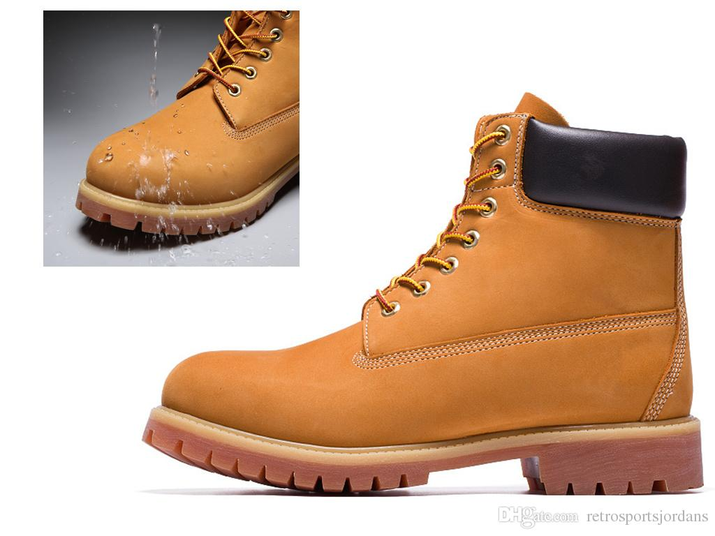 High Quality Women And Mens Waterproof Boots Tim Working Safty High Cut Boot  Berland Shoes Outdoor Hiking Sneaker Full Grain Leather Rain Boots Mens  Shoes ... eb17a4be20