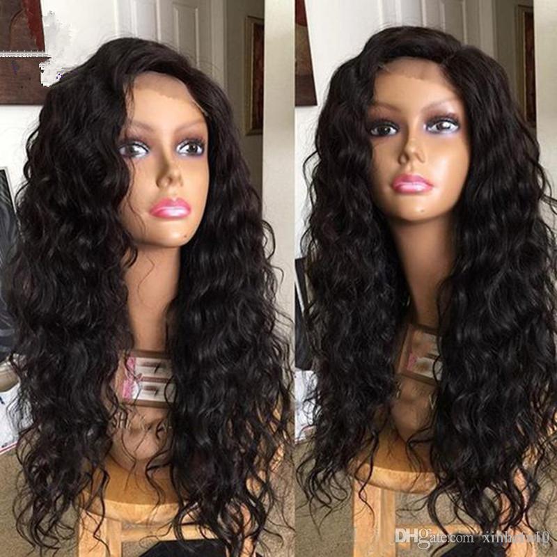 Glueless Peluca llena del cordón Pelucas brasileñas del cordón del pelo humano de la onda del frente del cuerpo de la onda del cordón de la alta calidad brasileña del cordón con el envío rápido