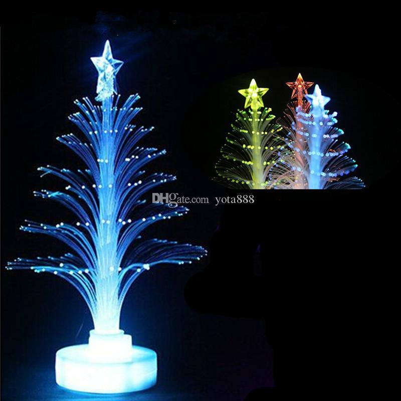 2017 luminous optical fiber tree led christmas tree 7 colour optic star festival decoration from yota888 091 dhgatecom - Led Christmas Tree