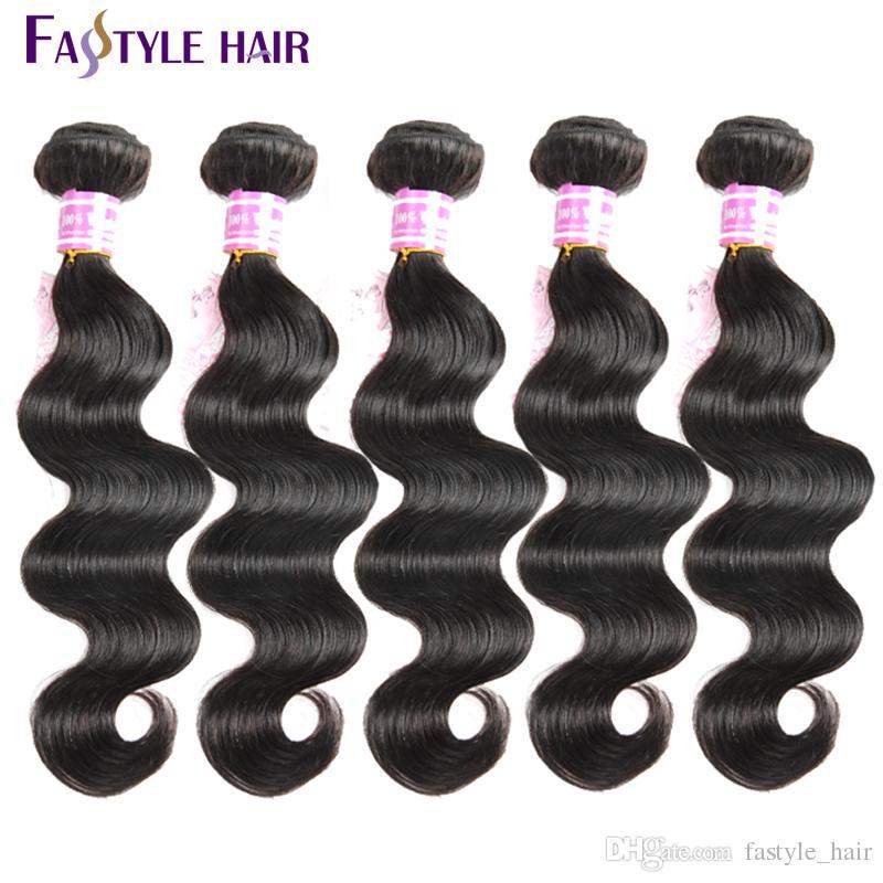 Hot!Wholesale Peruvian Body Wave Extensions UNPROCESSED Brazilian Malaysian Indian Virgin Human Hair Bundles Cheap