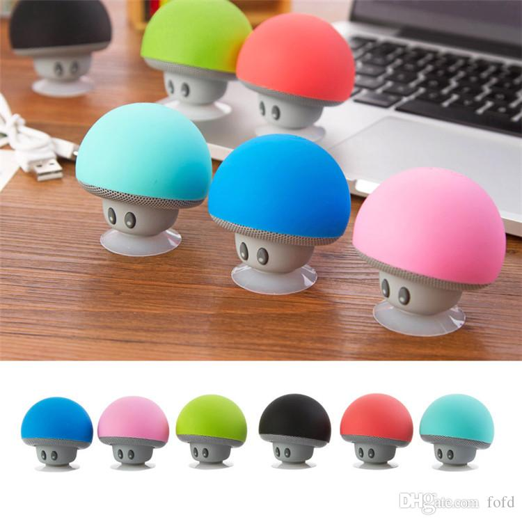 Mushroom Mini Speaker Wireless Bluetooth Speaker Hands Free Stereo Subowoofer Portable Loudspeaker Cell Phone Holder