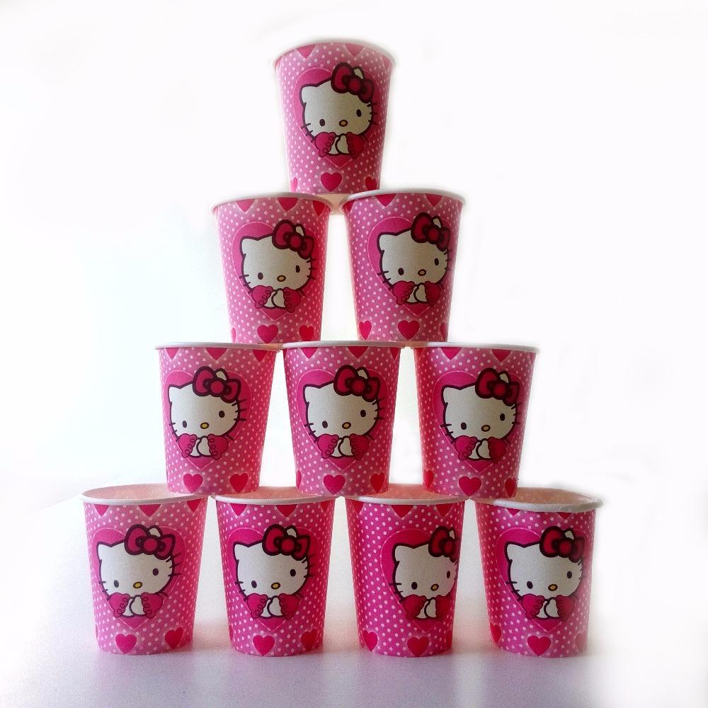 2019 Wholesale Hello Kitty Paperboard Cup Cartoon Happy Birthday