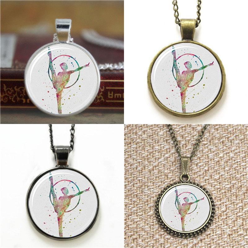 10pcs Gymnastics Art Print sportsman Glass Photo Necklace keyring bookmark cufflink earring bracelet