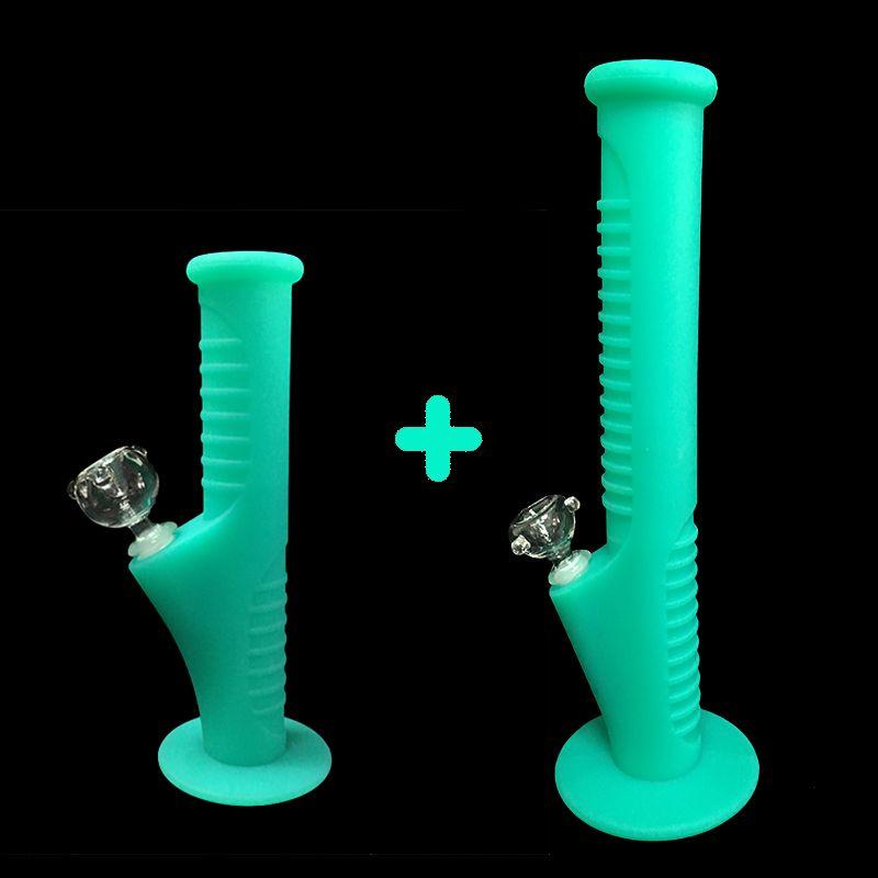 09Free shipping fuls nuevo conjunto de Silicona Mini Tubos de Agua y Tubos de Agua de Silicona pipas de vidrio pipas de agua de cristal
