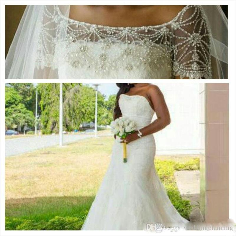 New Arabic Wedding Dresses Plus Size 2017 Vintage Sweetheart Neck Beads Tulle lace Wedding Dresses Sexy Custom Bridal Gowns
