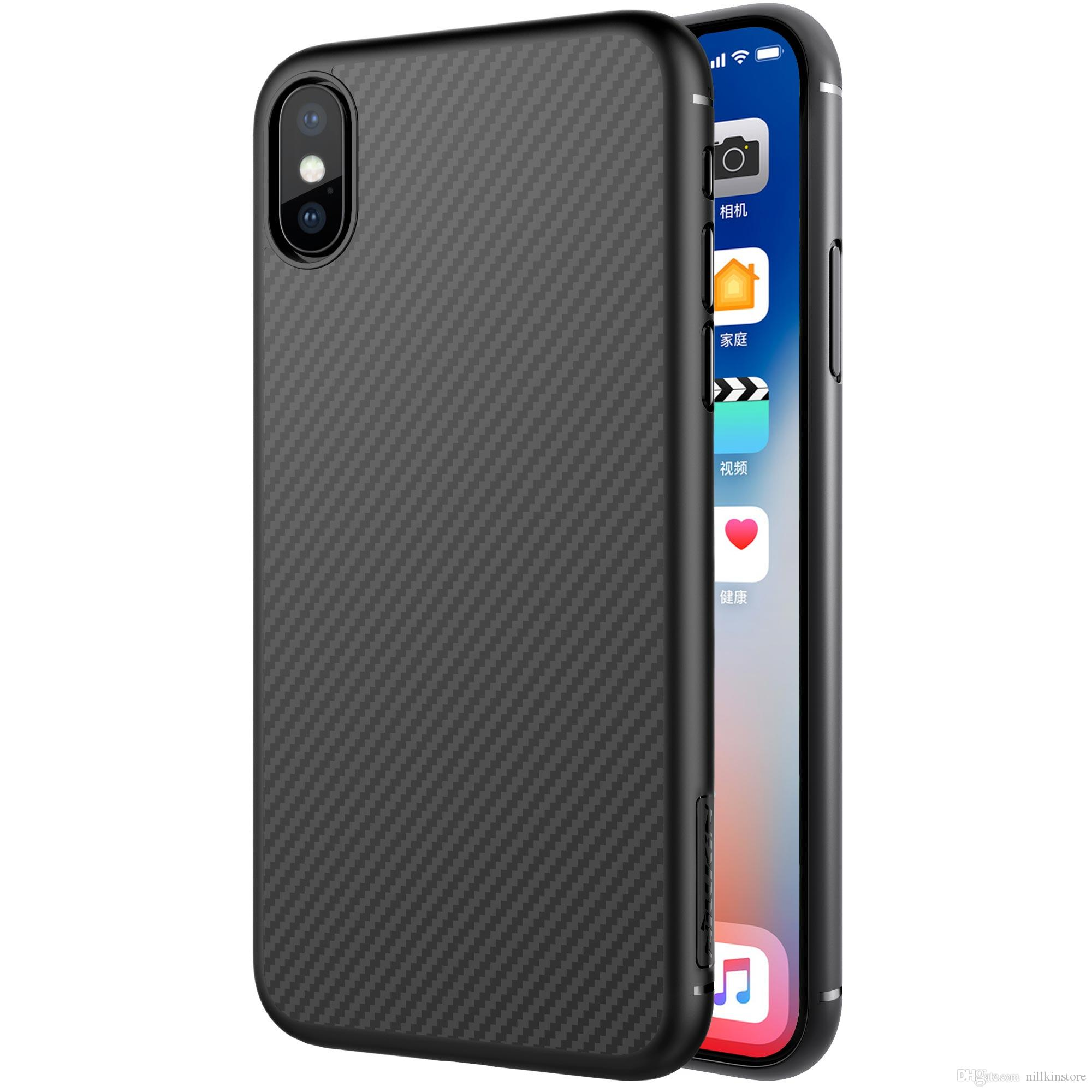 Nillkin Synthetic Fiber For Iphone X Case Carbon Pp Plastic Silikon Soft Samsung Galaxy S8 Plus Nature Ultrathin Original Back Cover Ultra Thin Slim Luxury 58
