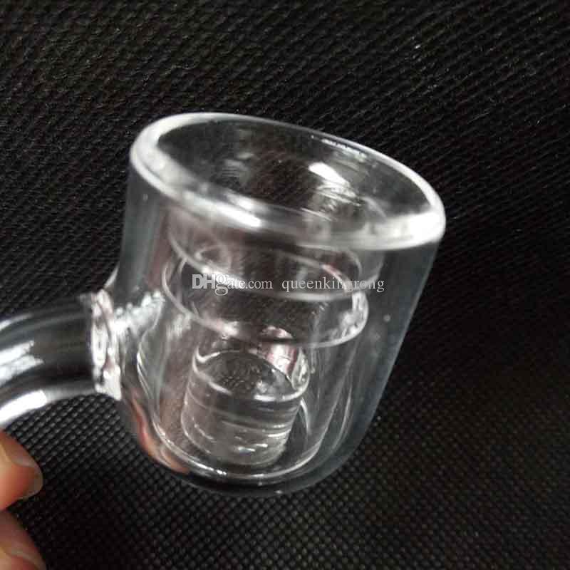 Chiodo doppio del bombardiere del quarzo del reattore del centro termale XXL del bicchierino con la protezione 10/14 / 18mm del carburatore del quarzo della bolla lo strumento di fumo