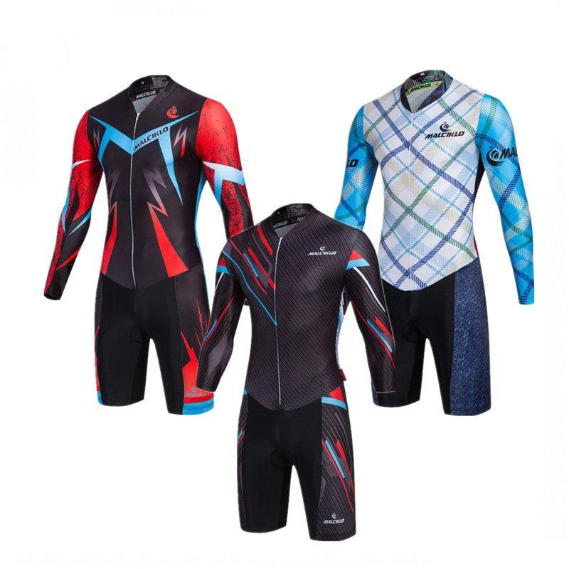 Acheter 2017 Mens Cyclisme Skinsuit Manches Longues   Combinaison De ... b031fc38433