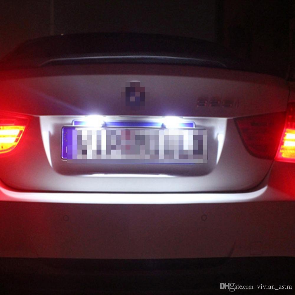 Error Free led Licence Light For Mercedes Benz W220 DC 12V 18 SMD-3528 Car Number LED Lamp For Benz W220 99-05 Car