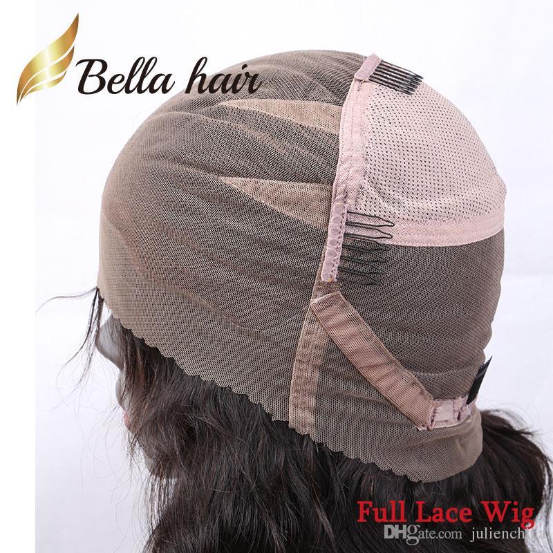 Brazilian Body Wave Hair Wigs Virgem Frente Frente Laço Ondulado Cor Natural 100%