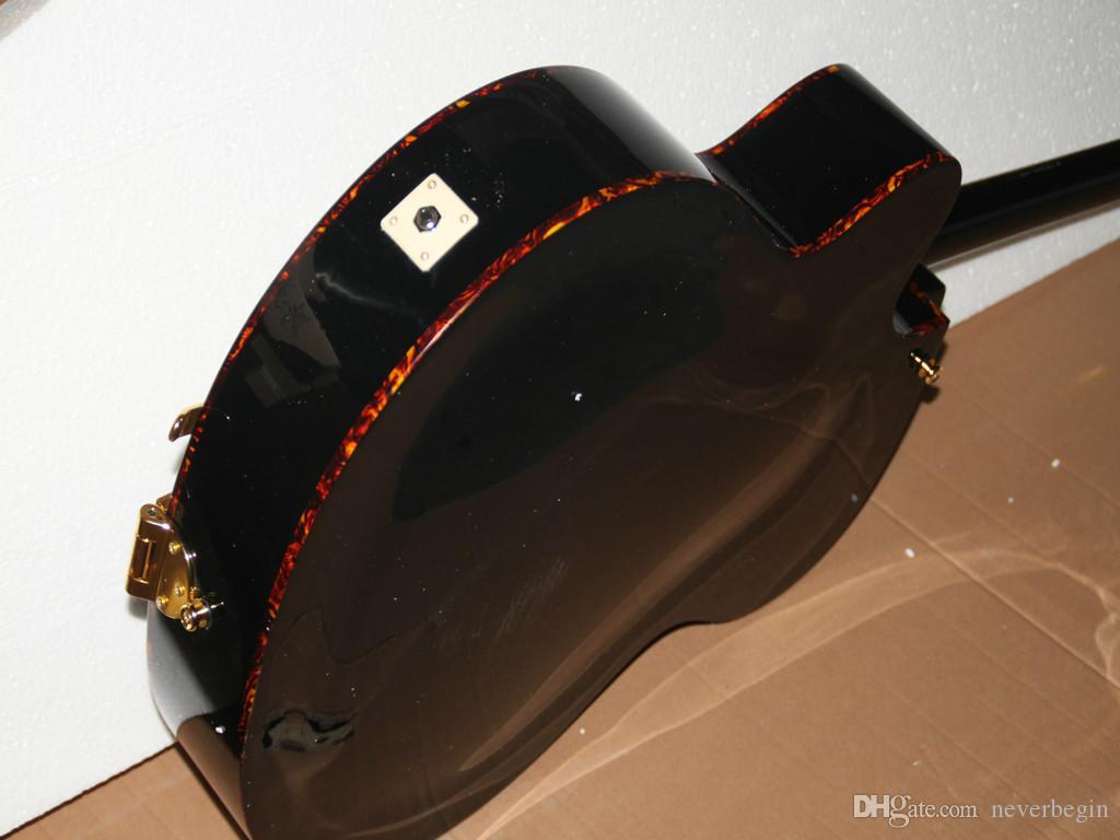 Venta directa de fábrica Nueva llegada Black Classic Jazz Guitar con envío gratis