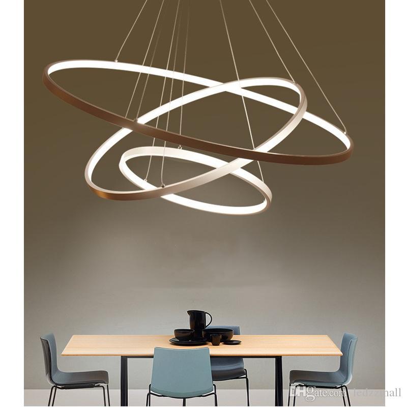 Modern Circular Ring Pendant Lights 3/2/1 Circle Rings
