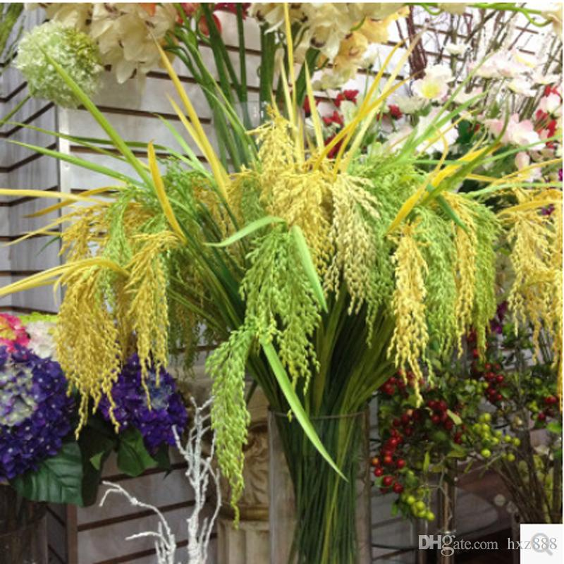 best artificial rice plant yellow color fake greenery simulation of Best Fake Greenery
