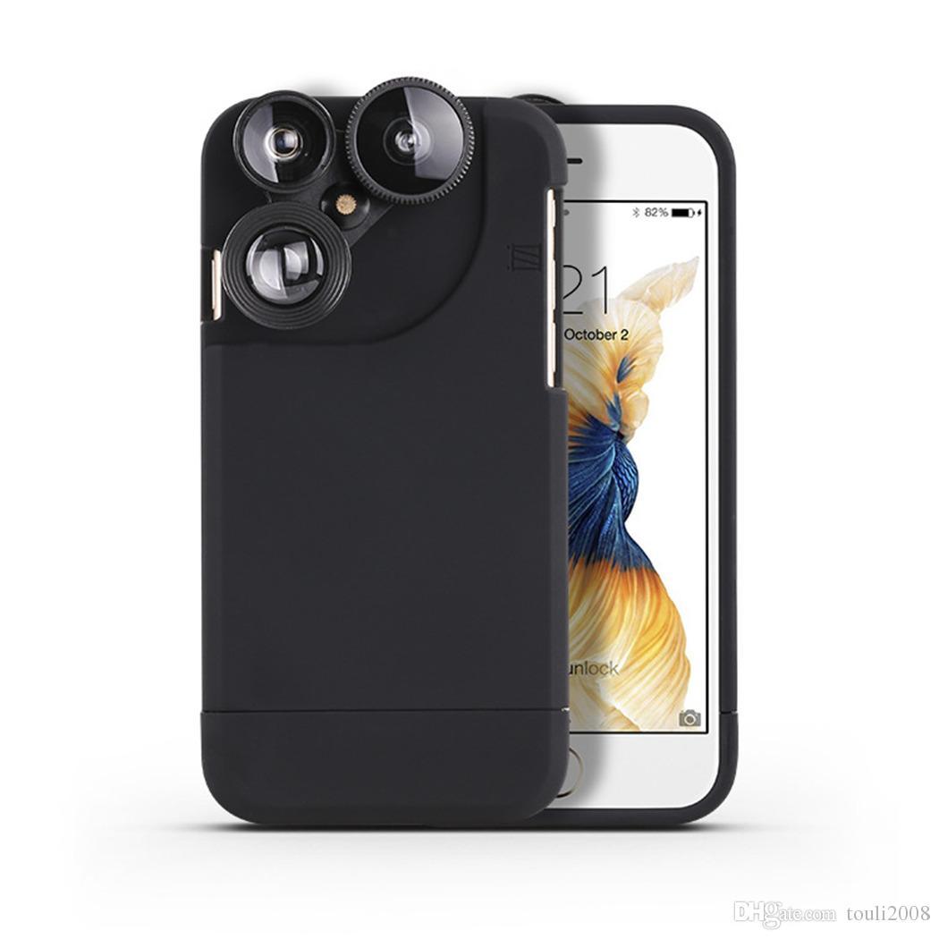 054dea7b676 Accesorios Celulares Para Estuche De Lente De Cámara Para IPhone, 4 En 1  Universal 180 ° Lente Ojo De Pez, 10X Lente Macro, 2X HD Teleobjetivo, ...
