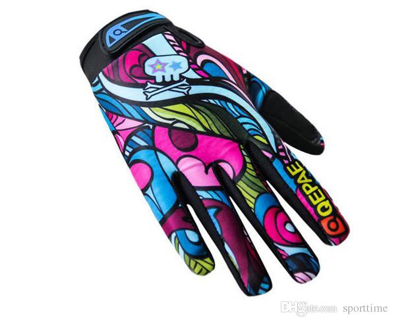 Новый стиль мужская езда на велосипеде все палец езда перчатки спорта на открытом воздухе скользкие тележки длинный палец перчатки