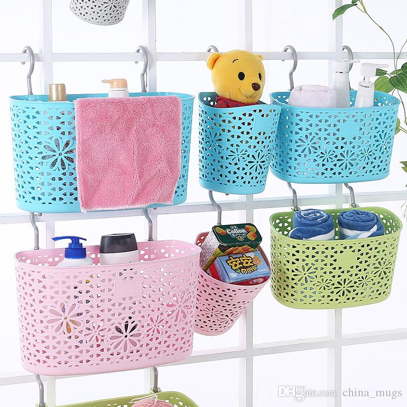 Rattan plastic storage baskets Eco Friendly hooks basket plastic storage baskets kitchen bathroom for home daily necessities