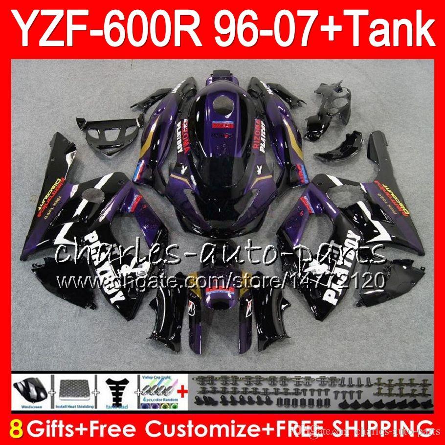 8Gift Para YAMAHA Thundercat YZF600R 96 97 98 99 00 01 53HM3 Roxo preto YZF 600R YZF-600R 1996 1997 1998 1999 2000 2001 kit de Carenagem