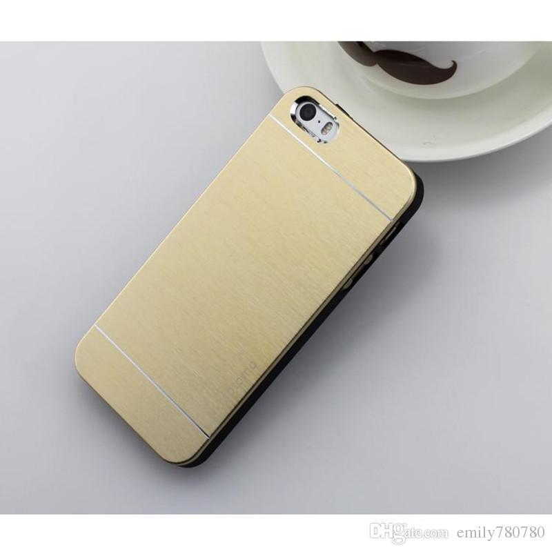 Fo Iphone 7 6 Case Motomo Metal Aluminum Brushed PC Hard Back Cover Skin,Ultra Thin Slim Brush Cases For iPhone 6/6plus