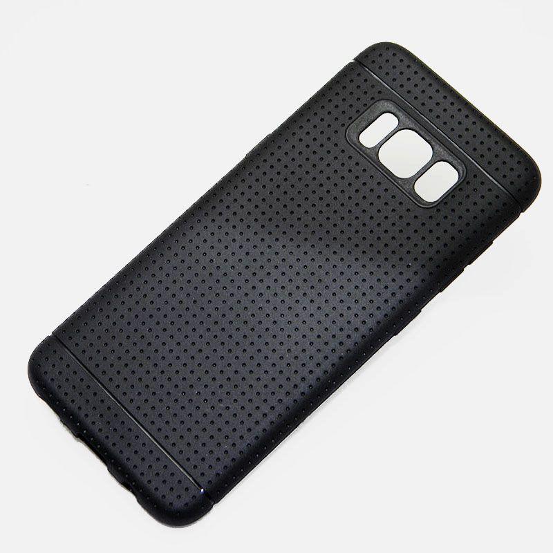 info for cb915 47050 for Samsung Galaxy S8 case net hot fashion silicone soft TPU material  Imitation slip design black color