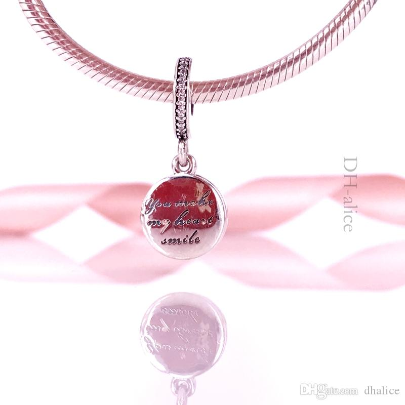 En gros Authentique En Argent Sterling 925 Dévoué Pendentif Coeur Charm Convient À European Pandora Style Bijoux Bracelets Collier 792149EN24