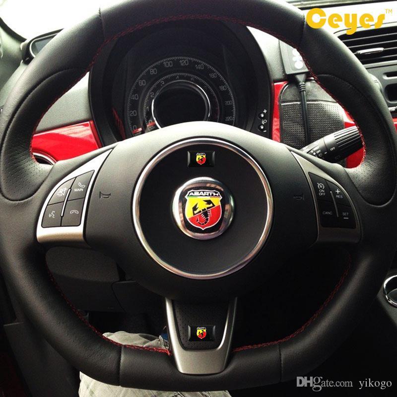 Adesivo personalizzato Abarth Logo Badge Auto Plastica Drop Sticker Fiat 500 Abarth Accessori auto l'esterno Styling /