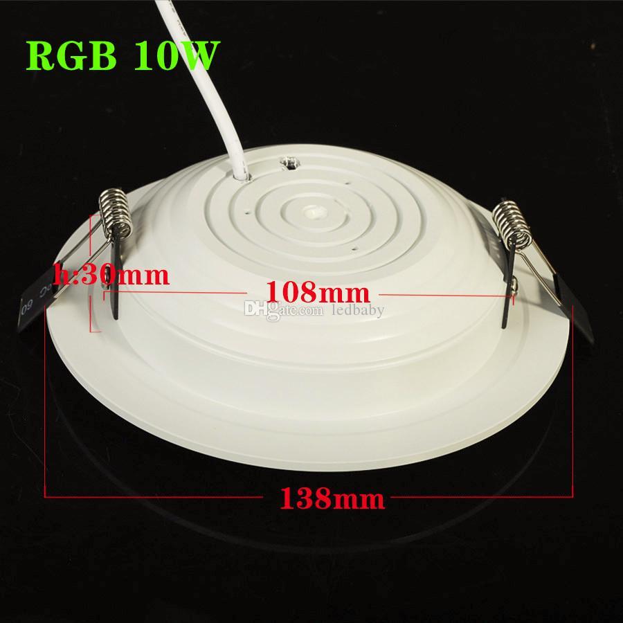 Лучший RGB 5 Вт 10 Вт светодиодный потолочный светильник AC85-265V Downlight лампа с пультом дистанционного управления Бесплатная доставка CE UL